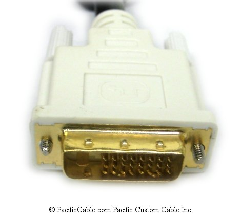 DVIDLL-1_2 1 Meter (3 Ft. 3 In.) DVI-D Male To DVI-D Male Left Angle Dual Link Digital Cable