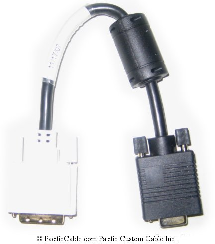 DVIVGAF-10IN 10 Inch DVI-A Male to VGA HD15 Female Analog Cable