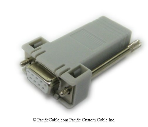 H8571-J DB9 Female To MMJ Female Adapter. (For PC Serial Printer Port). DEC Cable. (Custom)