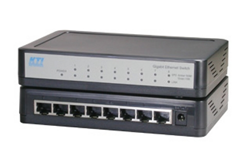 KGS-800L 8-Port Gigabit Switch. External Power. KTI.
