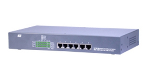 KS-1080 6-Port 10/100TP + 2-Port 100FX With Optional 4-Port PoE/PSE Function. KTI.
