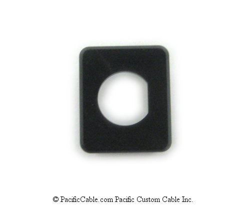 MF-BNC-BK BNC Panel / Wallplate Insert - Black