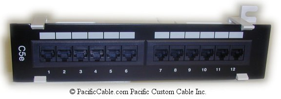 PL1 Enhanced 12 Port, RJ45, Cat. 5E 110 Punch Down 568B