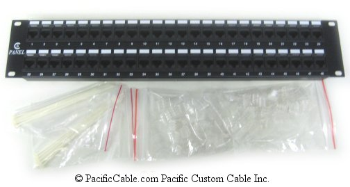 PL3 Enhanced 48 Port, RJ45, Cat. 5E 110 Punch Down, 568B