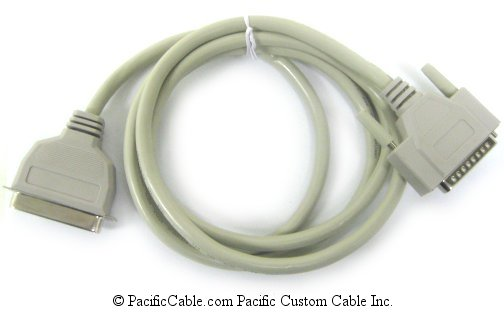 PM1-50T 50 Ft. IEEE1284 Bidirectional, D25 Male To C36 Male