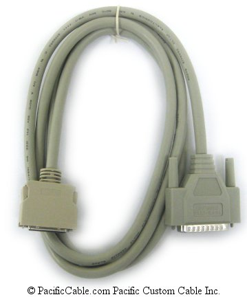 PM1-6C 6 Ft. IEEE1284 Bidirectional D25 Male / HPC36 Male