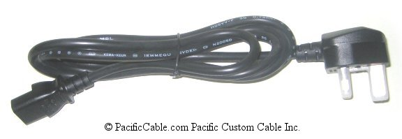 PO5-6 6 Ft. United Kingdom Power Cable. C13 Connector To Type G Male.