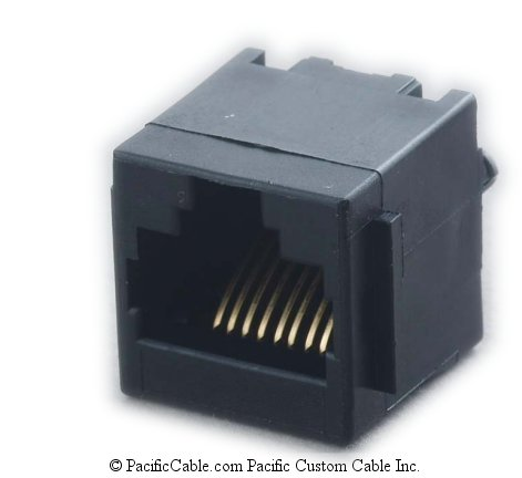 PT-J259-8C PCB Top Entry Panel Stop RJ45 Jack 50 Pack