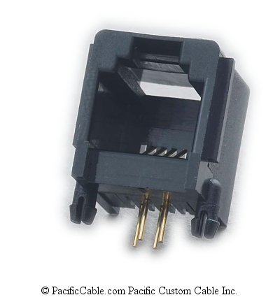 PT-J623SS-64BK PCB Side Entry Slim Size Black RJ11 Jack 50 Pack