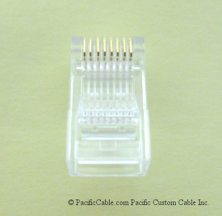 R45 RJ45, 8 Conductor / 8 Wide (Stranded) 100 Pack