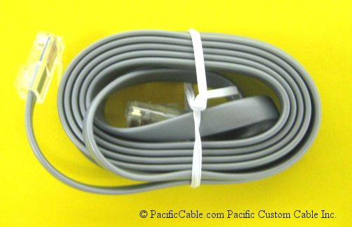 R45SS-7 7 Ft. RJ45 8 Wire Silver Satin Straight (Custom)