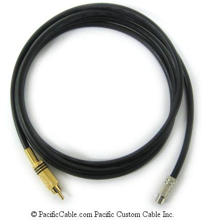 RCAMF-25 RCA Male (Plug) To RCA Female (Jack) 25 Ft.75 Ohm RG59  (Custom)