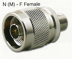 RFA-8673T N Male (Plug) to F Female (Jack) Adapter with Teflon Insulation