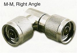 RFN-7658 N Male (Plug) to N Male (Plug) Right Angle Adapter