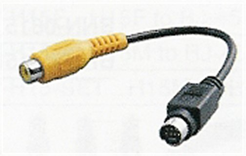 S-7MDM-RCAF-4 Mini Din 7 Male To Composite Video Cable 4 Inches