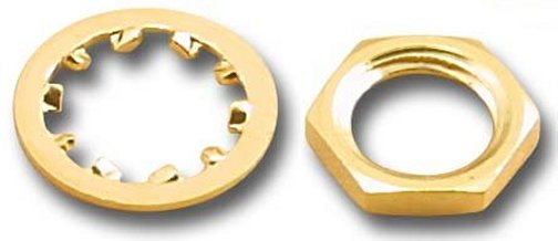 SMA-HN8-G SMA Gold Hex Nut (50 Pack)