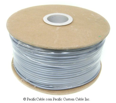 SS4 4 Conductor silver satin, flat wire, 1000 Ft.