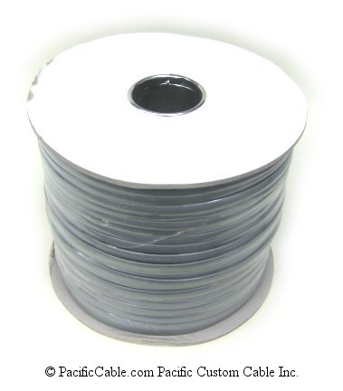 SS8 8 Conductor silver satin, flat wire, 1000 Ft.