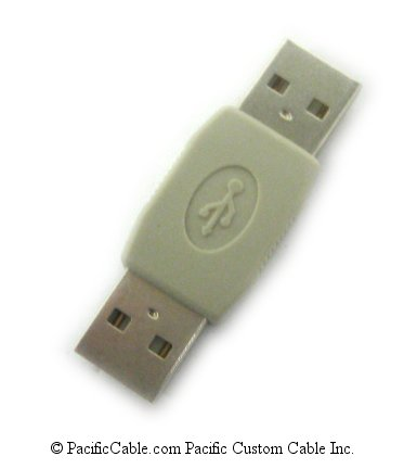 USBAMAM Gender Changer - Type A Male to Type A Male (USB 2.0)
