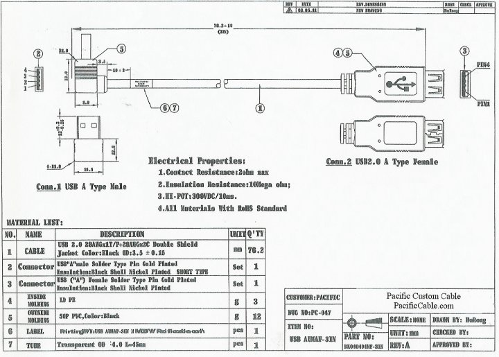 USBAUMAF 3IN_Drawing usb male to male cable wiring diagram diagram wiring diagrams micro usb plug wiring diagram at reclaimingppi.co