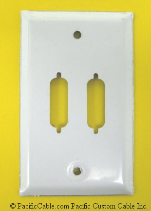 WP-15-2H DB15 / HD26 Wallplate 2 Holes