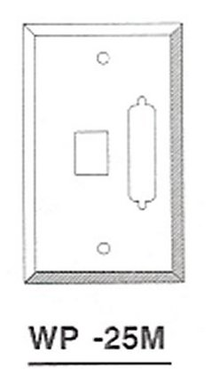 WP-25M DB25 / HD44, Keystone Jack Wallplate