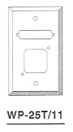 WP-25T-11 DB25 / HD44, Keystone Wallplate