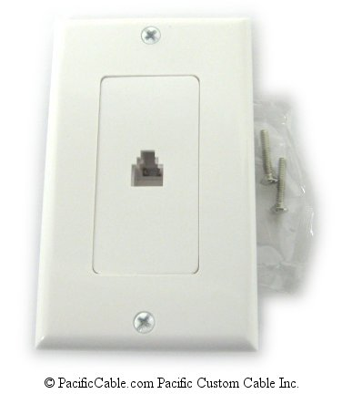 WP1 Flush mount, RJ11, 4 Wire