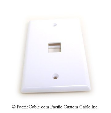 WP16 White Flush Plate, 1 Outlet