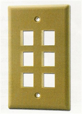 WP18I Ivory Flush Plate, 6 Outlet