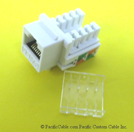 WP26 Category 6 RJ45 Insert / White