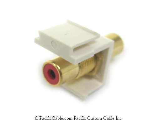 WP27R RCA Red Band Female / Female Keystone - White. Use with WP16, WP17, WP18.