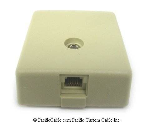 WP6 Surface Mount, RJ12, 6 Wire IDC Single Outlet