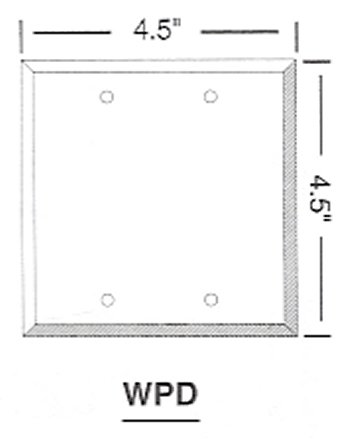 WPD Blank Wallplate, Double Gang