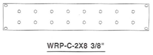 WRP-C-2X8-3-8 16 Port 3/8 Inch Coax 2U Rack Mount Panel