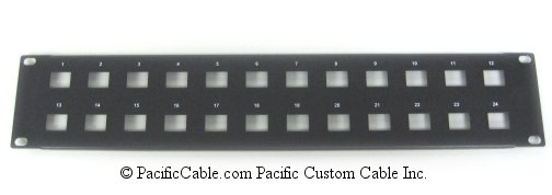 WRP-M-24 24 Port Voice Connector 2U Rack Mount Panel